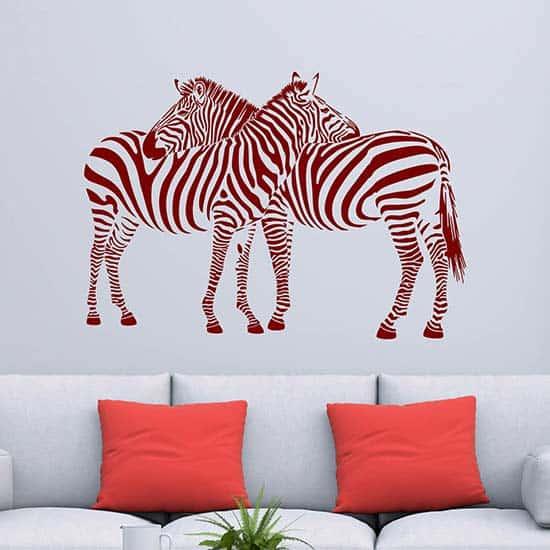 Adesivo da muro zebre, decorazione adesiva