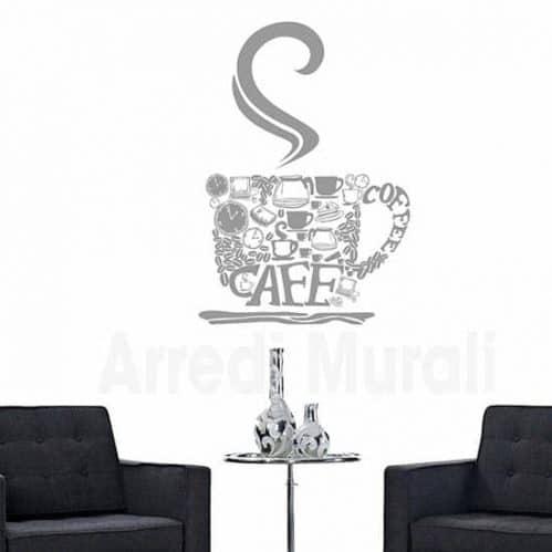 Decorazione adesiva da muro bar caffe