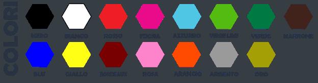 adesivi murali wall stickers scheda colori