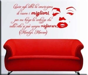adesivo murale frase di Marilyn Monroe