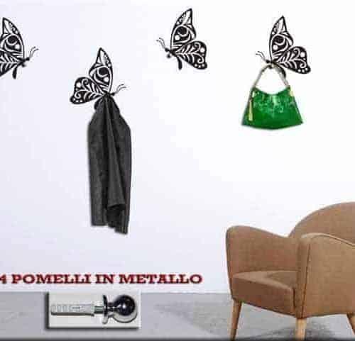 appendiabiti farfalle adesivi murali