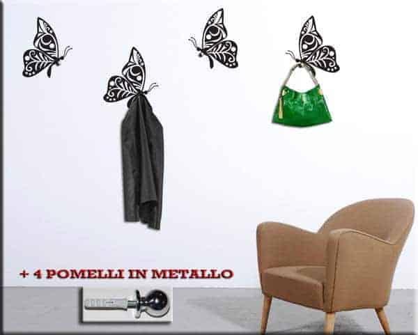 Appendiabiti farfalle adesivi murali for Specchi adesivi murali