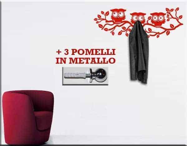 adesivi murali appendiabiti gufi ws1093 17 00 21 00 adesivi murali ...