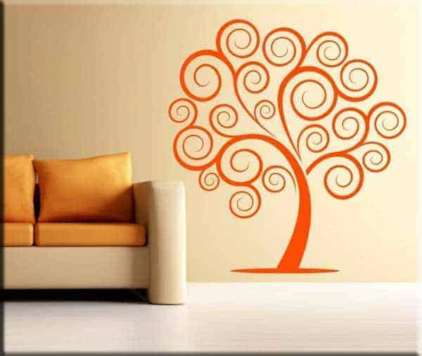 decorazione adesiva albero