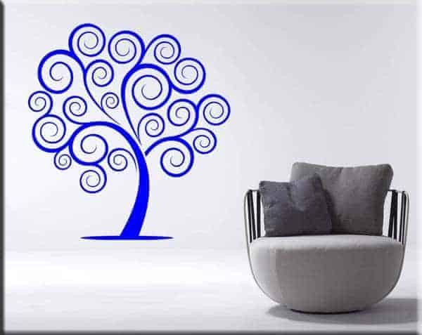 wall sticker albero astratto