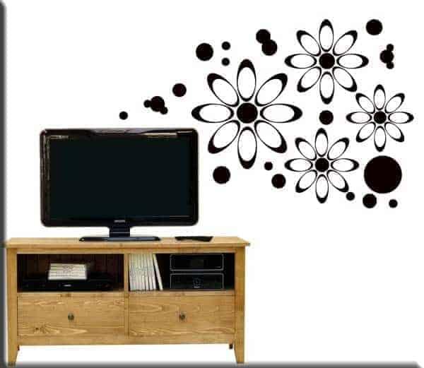 adesivi murali fiori moderni ws0095 23 90 33 90 adesivi murali fiori ...