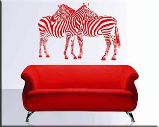 adesivi murali zebre