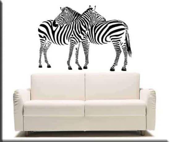 adesivo da muro zebre