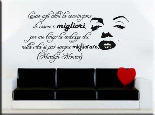 adesivo murale frase Marilyn Monroe