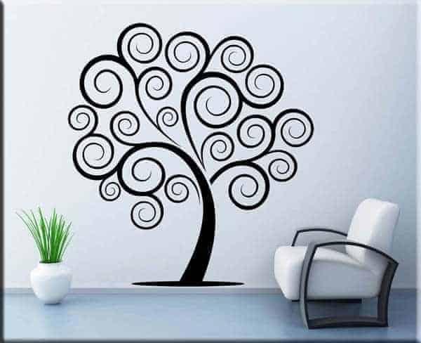 Adesivo da parete albero stilizzato - Albero su parete ...