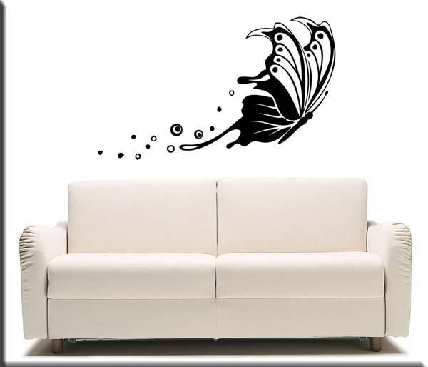 adesivo murale farfalla stlizzata