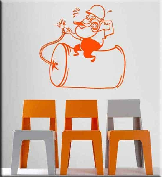 wall sticker cartoon bambini