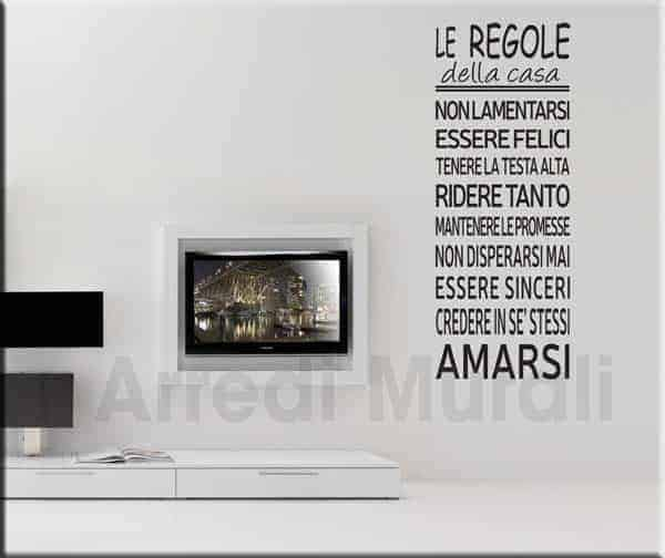 Adesivo murale frase cucina for Murales per cucina