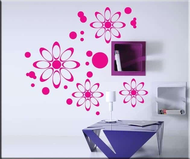decorazioni murali fiori moderni