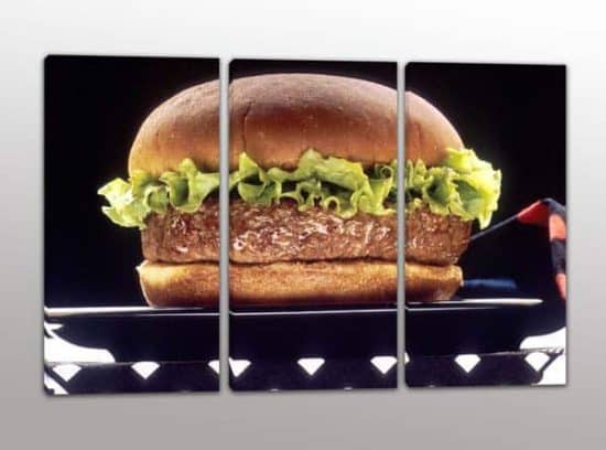 quadri moderni cucina hamburger