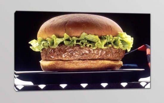 quadro moderno cucina hamburger