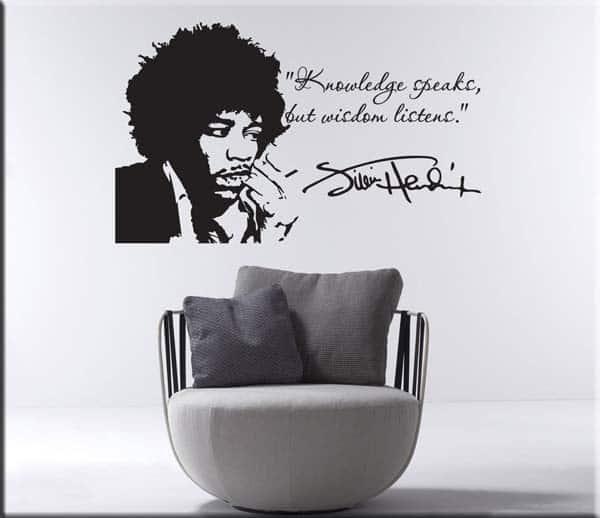 tattoo da muro frase Jimi Hendrix