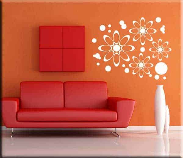 wall stickers fiori moderni