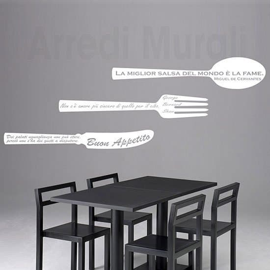 Adesivi murali frasi cucina bianco