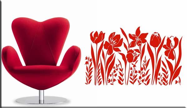 adesivi arredi murali adesivo design fiori