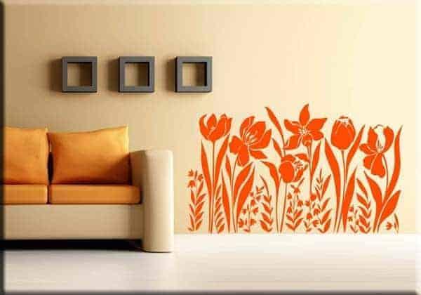 Adesivi arredi murali adesivo murale fiori for Arredi murali