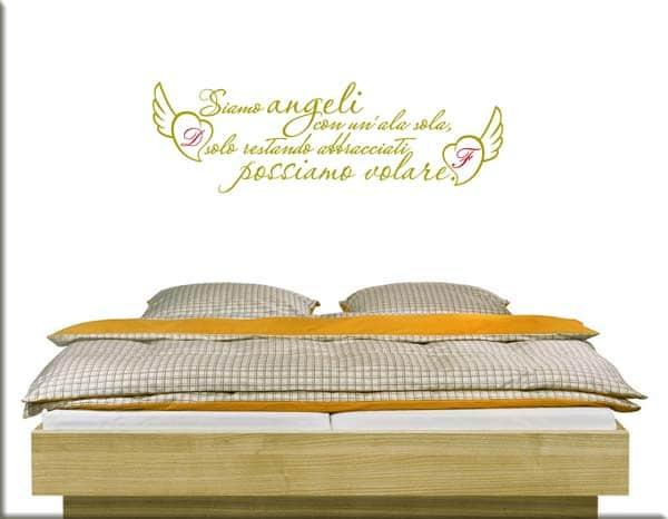 adesivi da muro frasi amore personalizzate