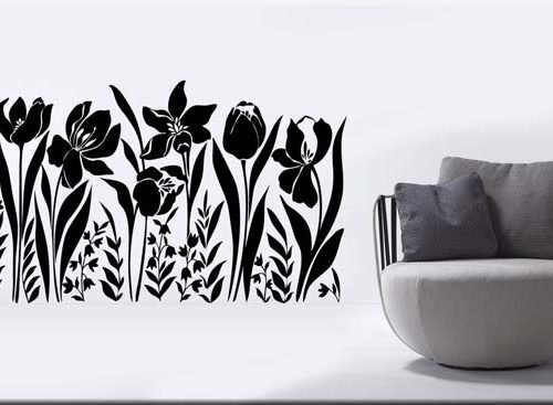 adesivi murali fiori