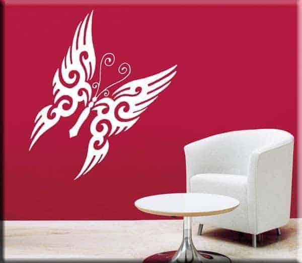 adesivi murali decal arredi design farfalla