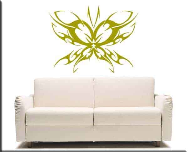 adesivi murali farfalla tattoo oro