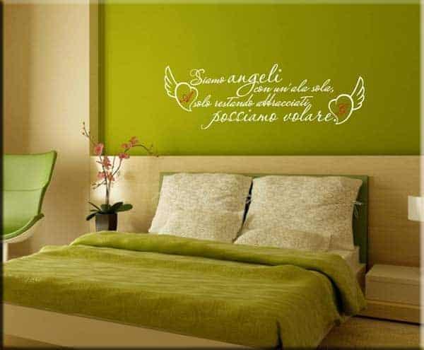 adesivi murali frasi amore personalizzate
