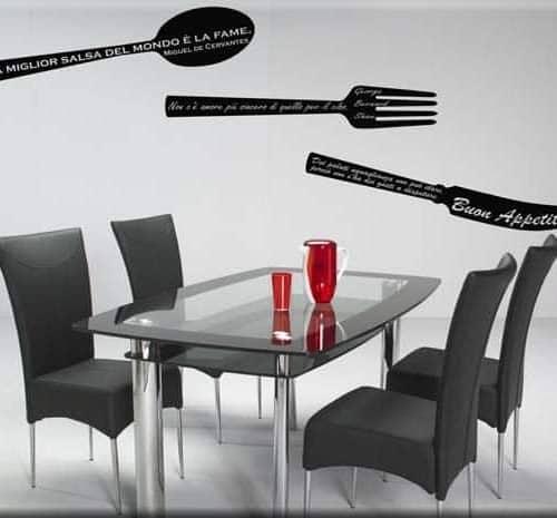 adesivi murali frasi cucina