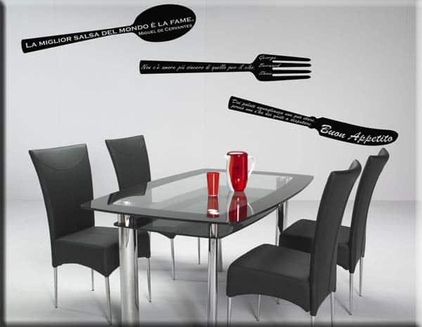 Adesivi murali frasi cucina decorazioni arredi murali - Stickers da parete personalizzati ...