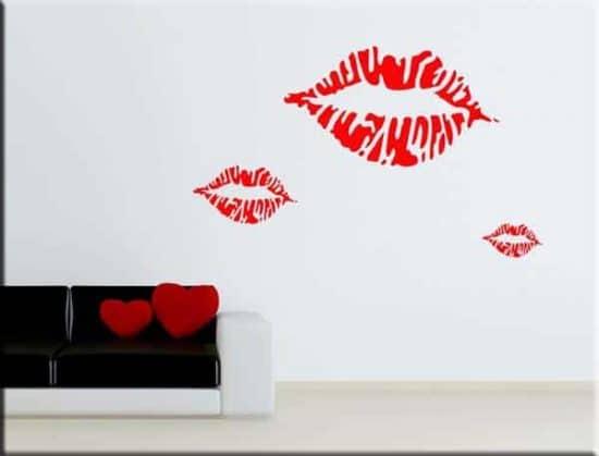 adesivi murali kiss baci