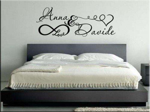 Adesivi murali personalizzati realizziamo ci che vuoi - Muri colorati camera da letto ...