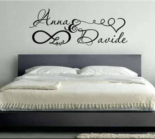 Adesivi murali frasi aforismi un nuovo modo per arredare - Adesivi murali camera da letto ...