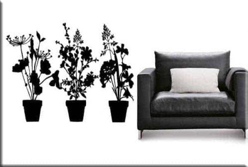 adesivi murali piante ornamentali