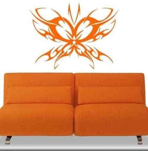 adesivio murale farfalla stilizzata