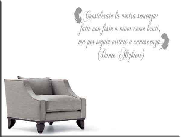 adesivo da muro frase Dante Alighieri