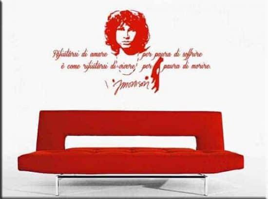adesivo da muro frase Jim Morrison