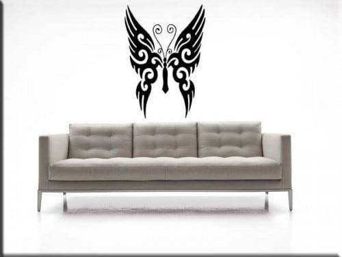 adesivo da muro farfalla tattoo