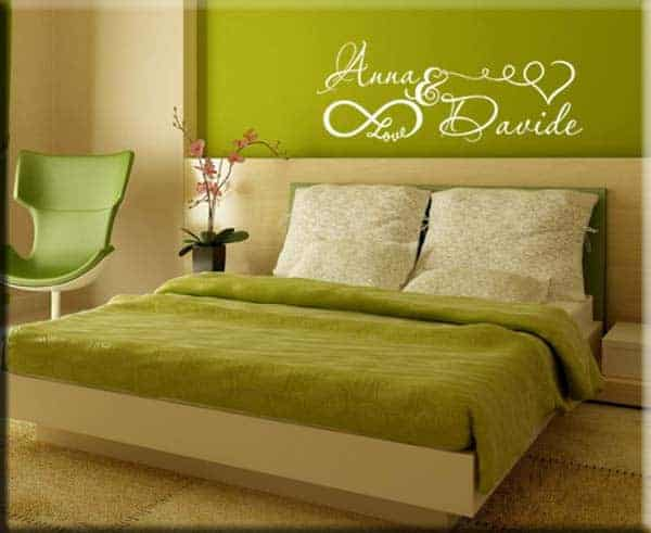 adesivo da parete camera da letto personalizzato