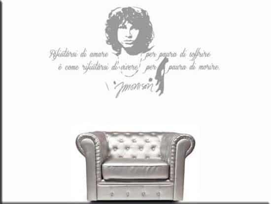 adesivo da parete frase Jim Morrison