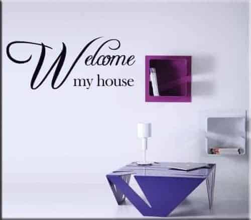 adesivo da parete frase welcome