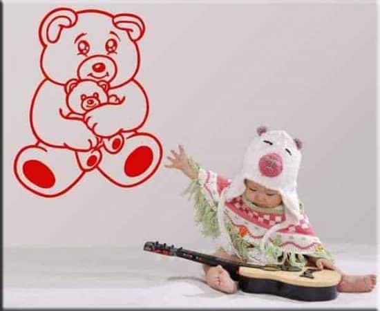 adesivo murale bambini orsacchiotto