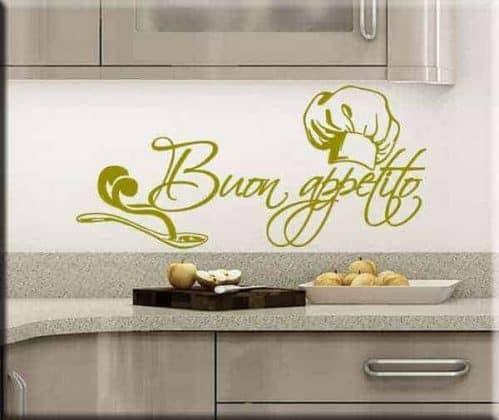 adesivo murale buon appetito