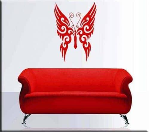 adesivo murale decal tattoo farfalla