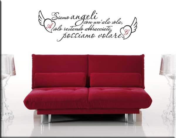 adesivo murale frase personalizzata