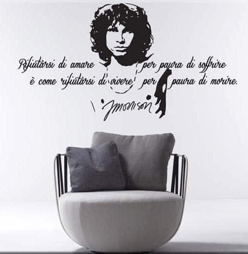 decorazione murale frase Jim Morrison