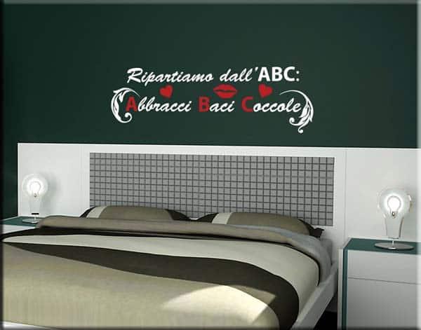 decorazione murale frase abc bianco