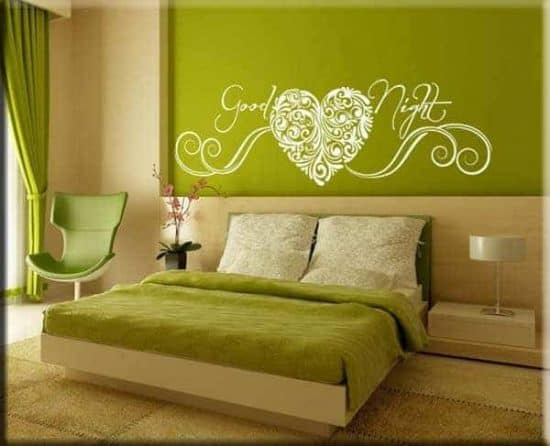 decorazione murale good night